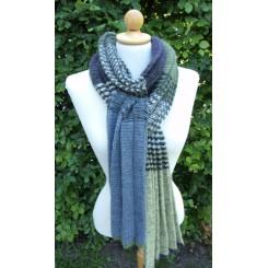 Opskrift, plisseret tørklæde multi farvet