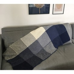 Strikket plaid, 100% alpaca
