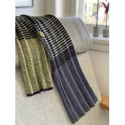 Pliséret halstørklæde, 100% Alpaka