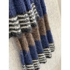 Strikkeopskrift, plissé tørklæder