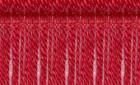 Rød med mørkerøde striber