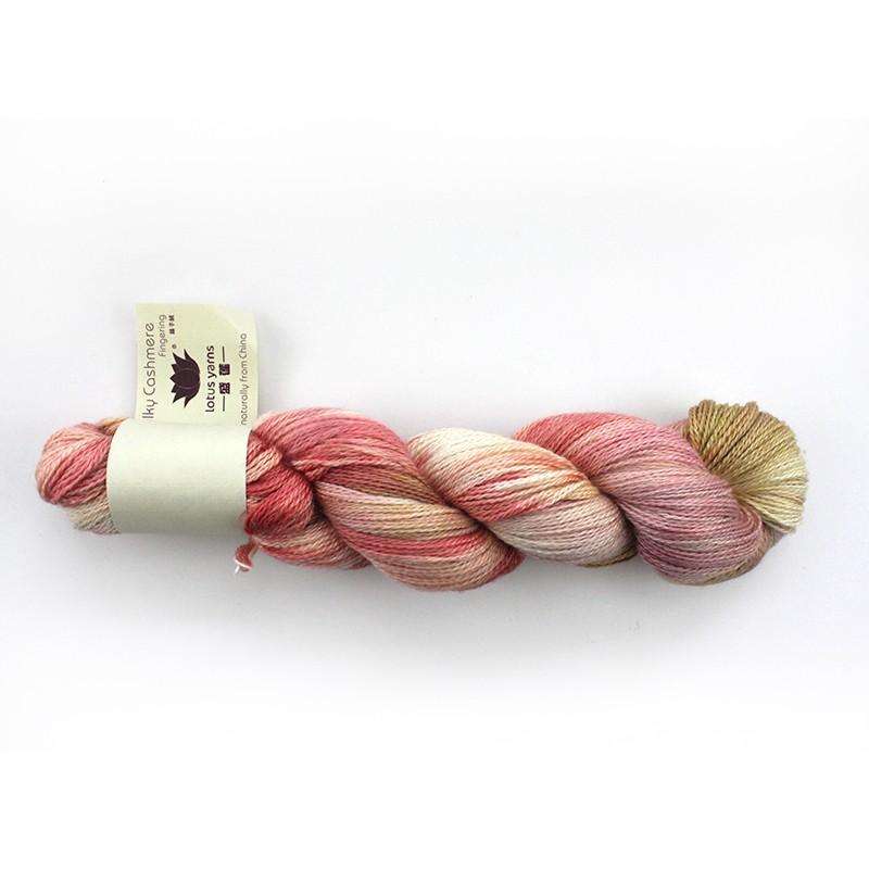 Håndfarvet rosa/gylden 03